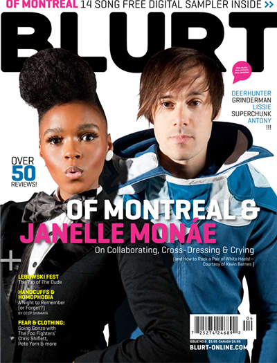 Janelle Monae and of Montreal's Kevin Barnes Cover Blurt Magazine