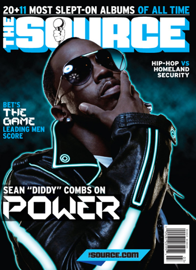 February/March The Source Cover with Diddy (Tron)