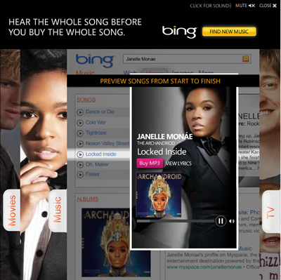 Janelle Monae Featured in Microsoft Bing Advertisement