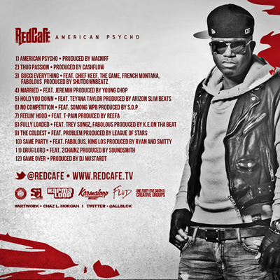 """American Psycho"" Mixtape by Red Cafe (Back Cover)"